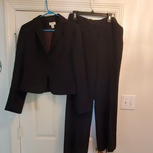 Ladies Black and white pinstripe suit